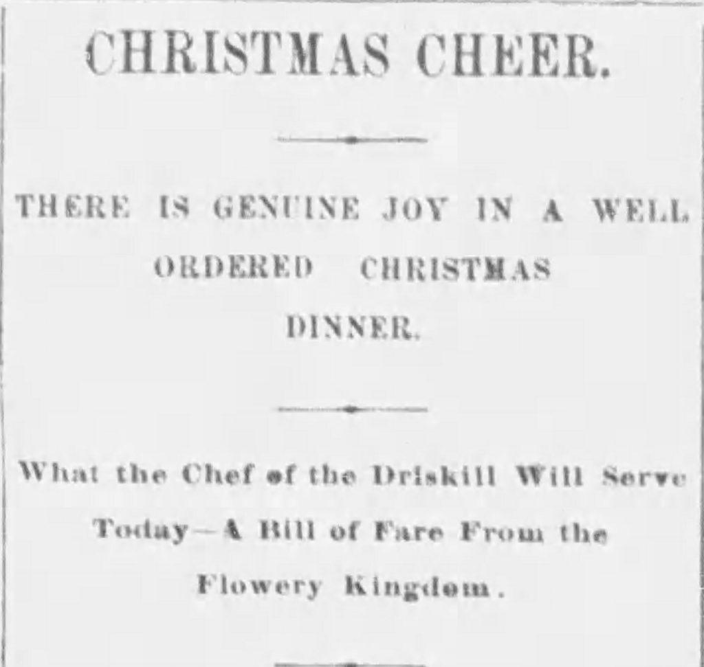 Christmas Dinner Driskill