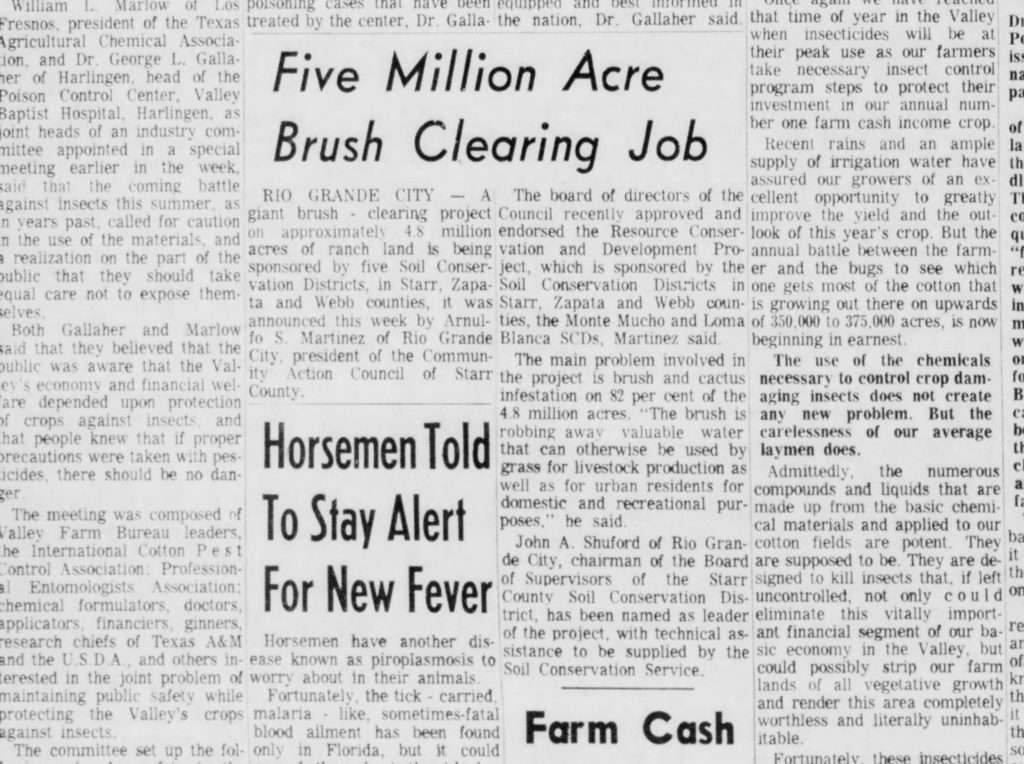 5 Million Acre Brush Clearing Job