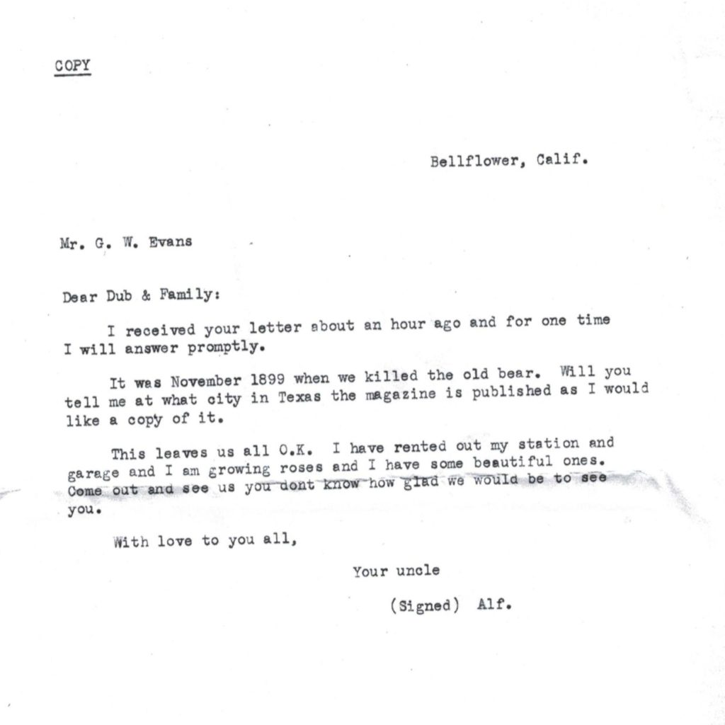 Grizzly Date Letter