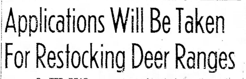 abeline texas deer restocking title