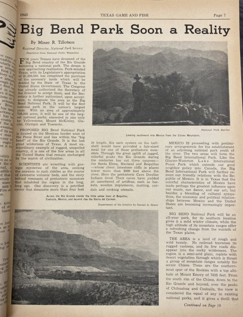 Big Bend Texas Article